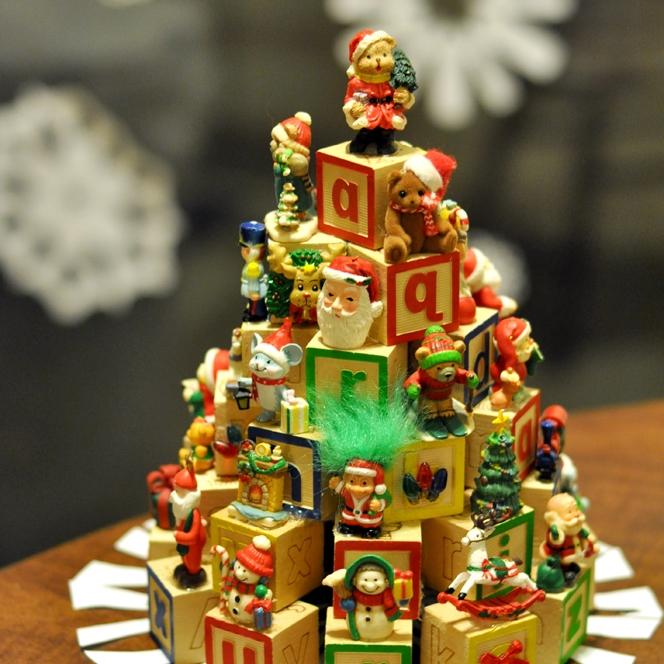 Block Christmas tree