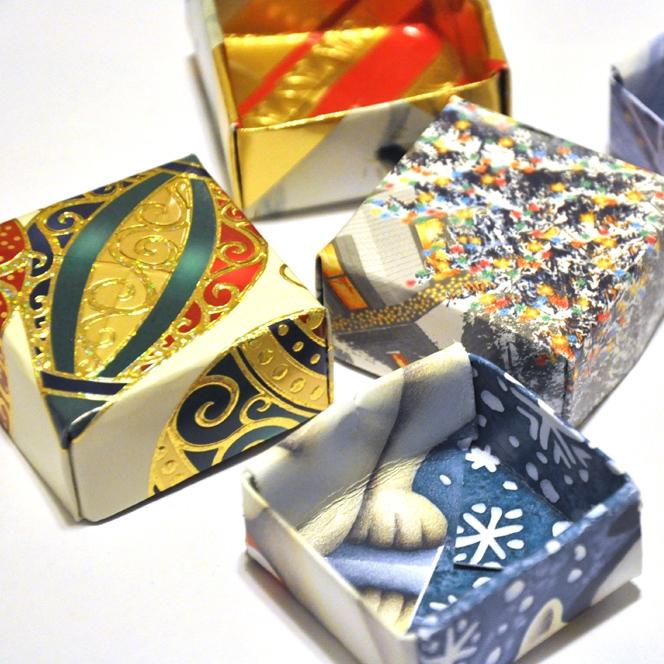 Christmas card gift boxes