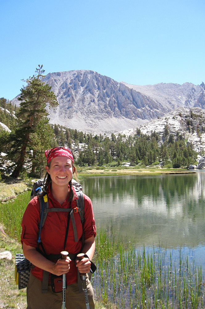 Brittany about to summit Mount Whitney during her 2013 thru-hike of the Pacific Crest Trail.