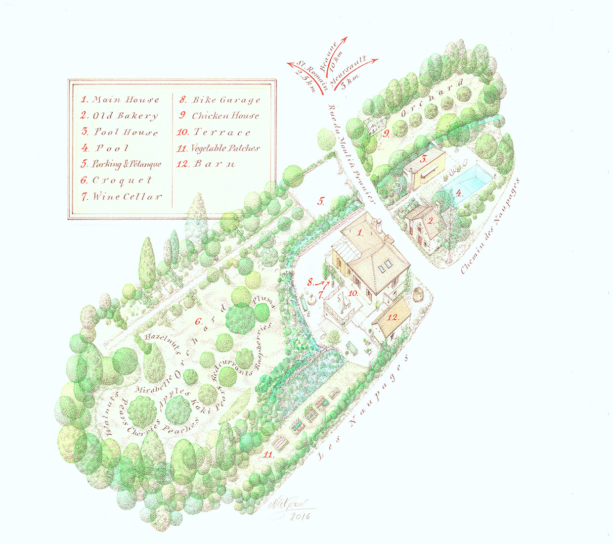 The Hungry Cyclist Lodge - Plan