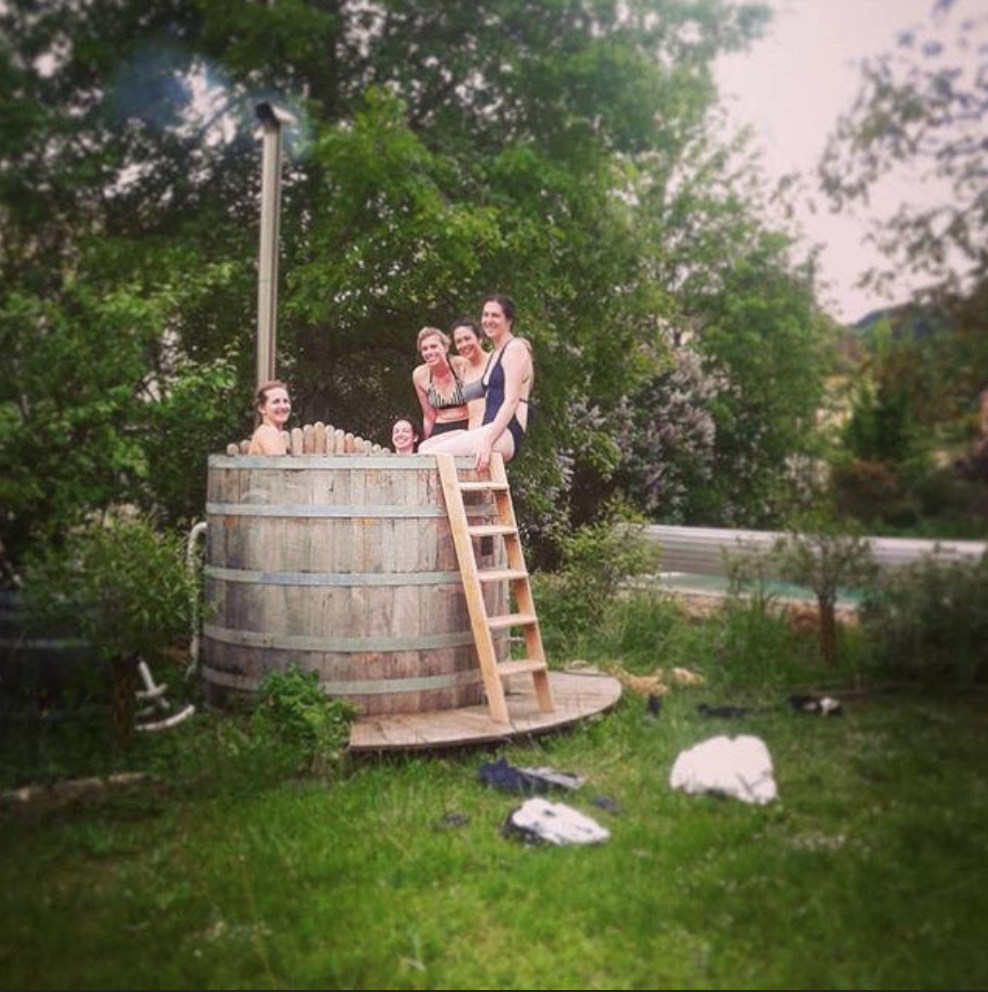 The Hungry Cyclist Wine Barrel Hot Tub