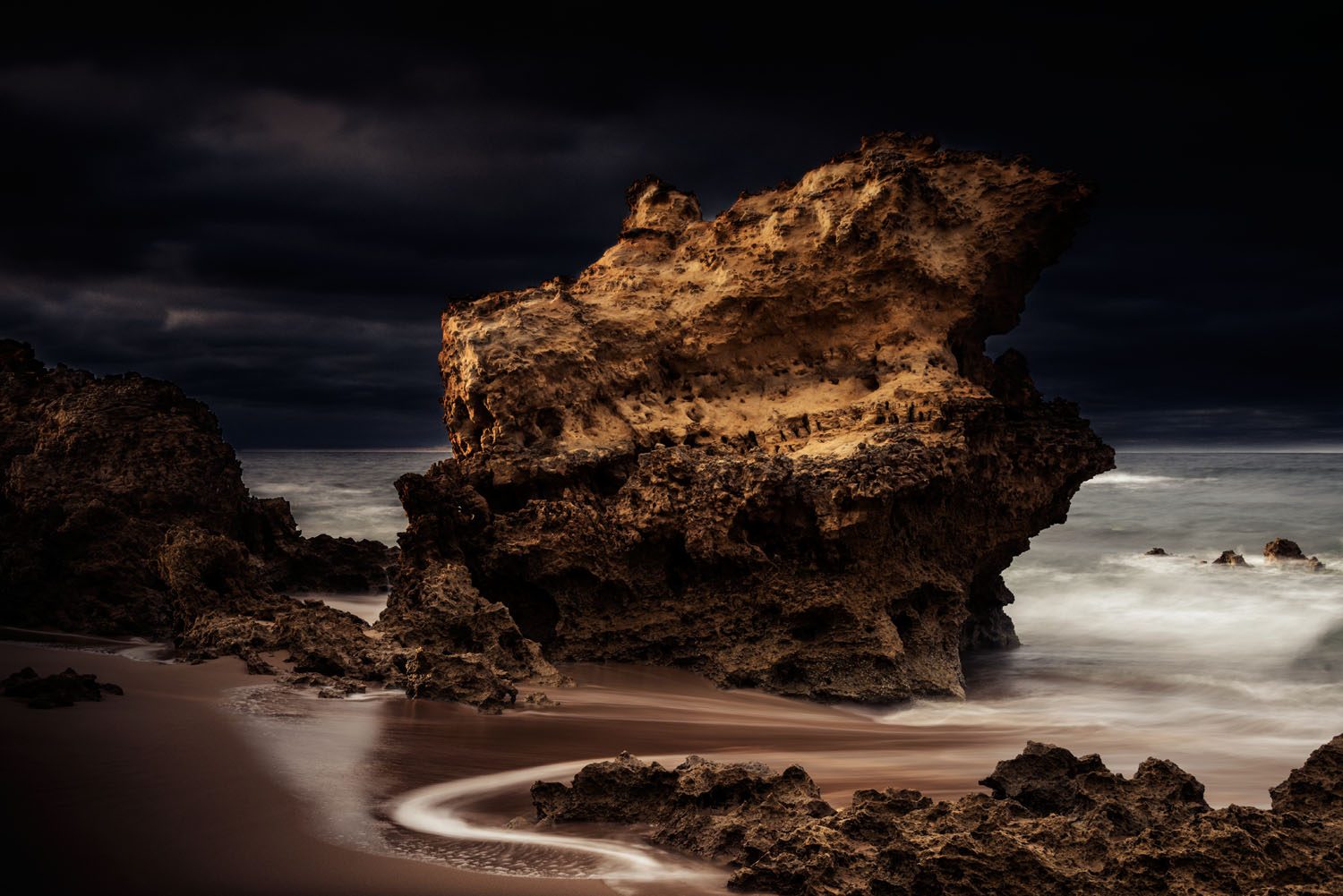 A rock formation on the beach at Jan Jac. I can get there in about one and half hours.