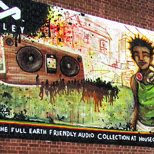 HOUSE OF MARLEY - LAUNCH MURAL