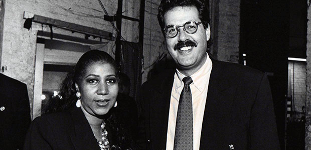 Post-show backstage with Aretha!