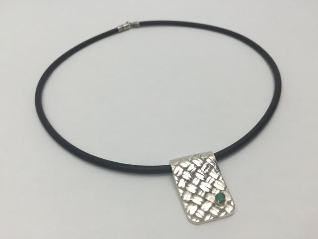Fine Silver & Emerald Necklace