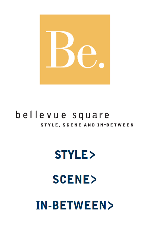 "- Specialty Icons: The ""Be."" brand identity creates a subtle (or not so subtle) reference to both the retail center – Bellevue Square and an attitude of just being in the moment. Three logotypes are used to organize the publication into sections; Style for fashion, Scene for home, and In-between for restaurants and amenities."