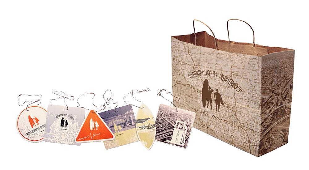 Product Hang Tags and Shopping Bag