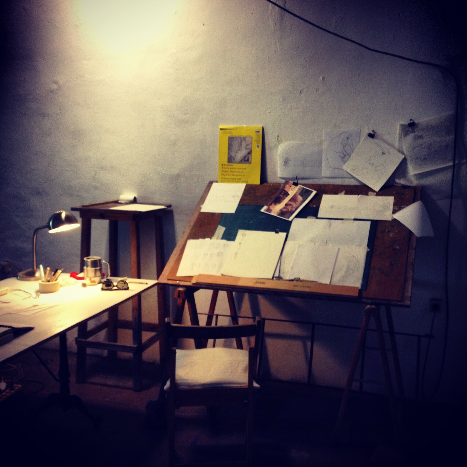 This was my amazing studio space in Can Serrat, Spain