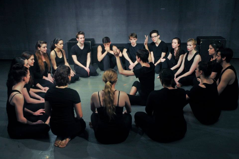 Students begin the show with a improvised, conducted soundscape