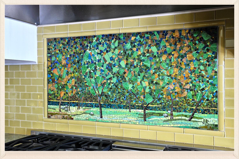 Custom Mosaic Backsplash