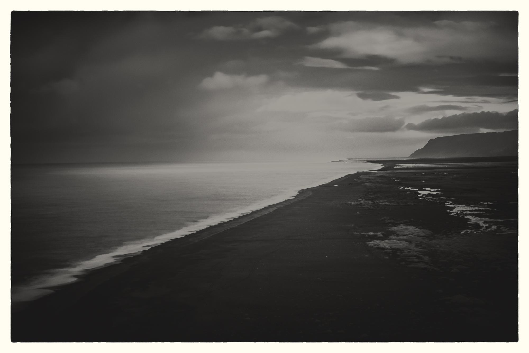 Coastline, Vik, Iceland  ISO 100, 200mm lens, f9, 6 seconds