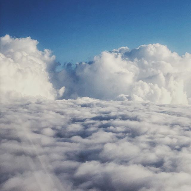 Fun clouds on this morning's flight.