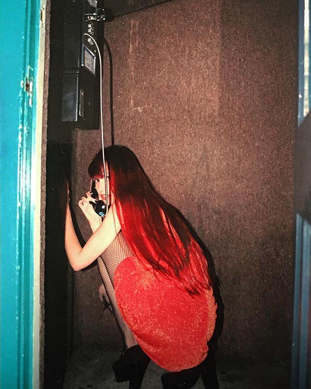 📵Landline Only 🔴 - Jen for Web of Threads circa 1994 #tbt #analog #35mm #film #lofi #fashionphotography #vsco #vscocam