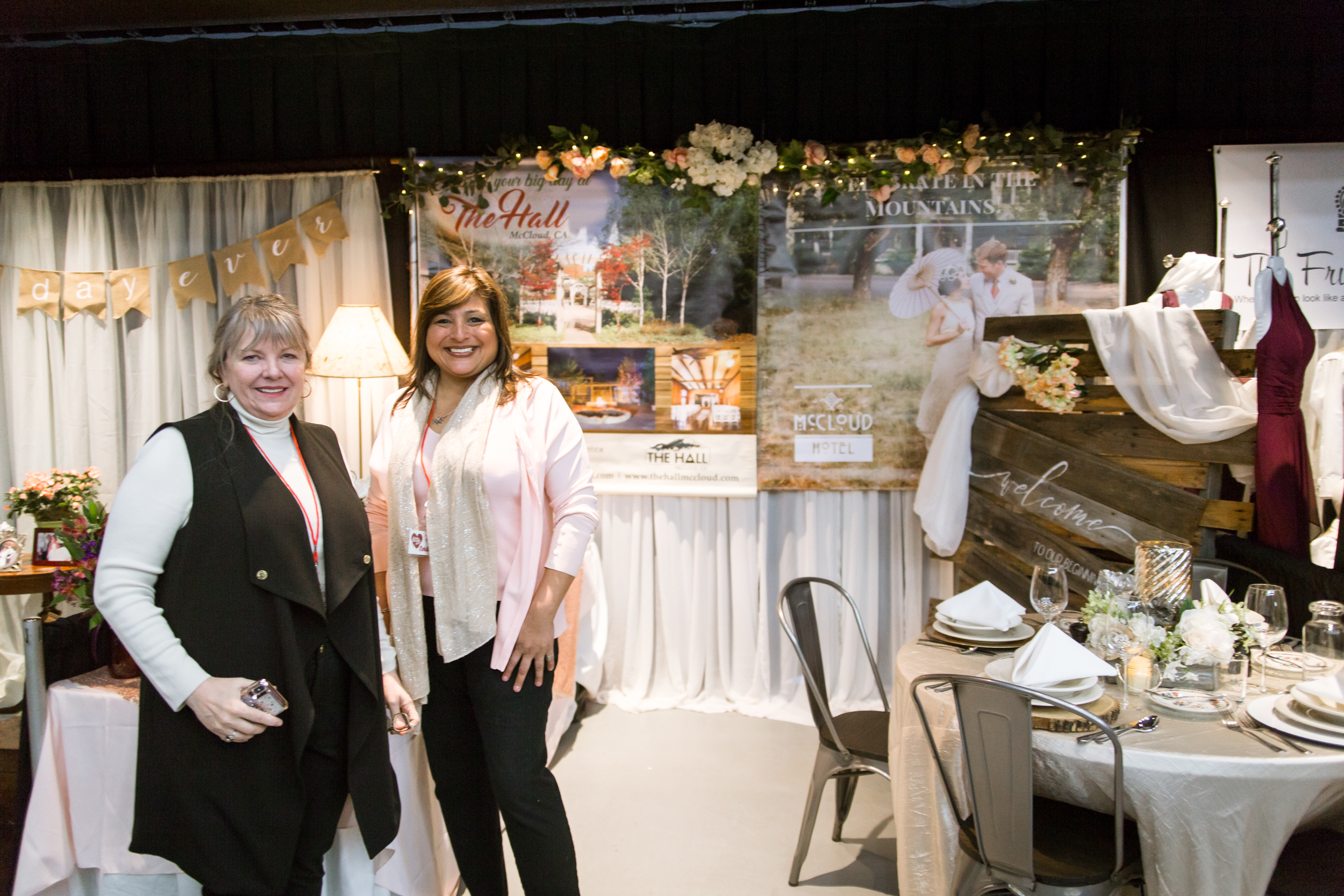 The Hall, The Mountain Wedding Event Venue in McCloud, CA Redding Bridal Show Wedding Expo
