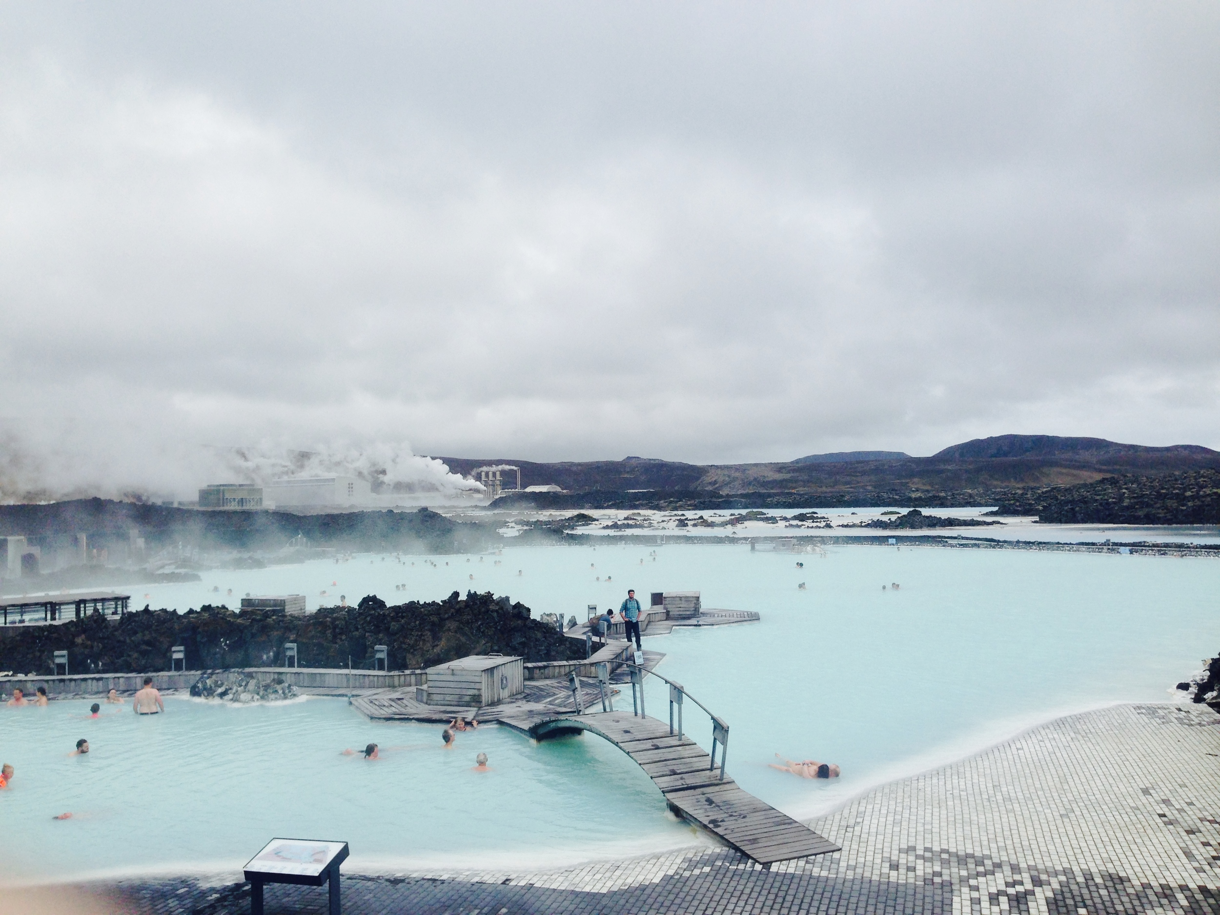 The Blue Lagoon is the perfect 40 degrees on a misty May afternoon. Bath your way to bliss, wading through this mystic blue lagoon heated by a nearby geothermal plant. Indulge yourself with fresh juice from the floating bar.