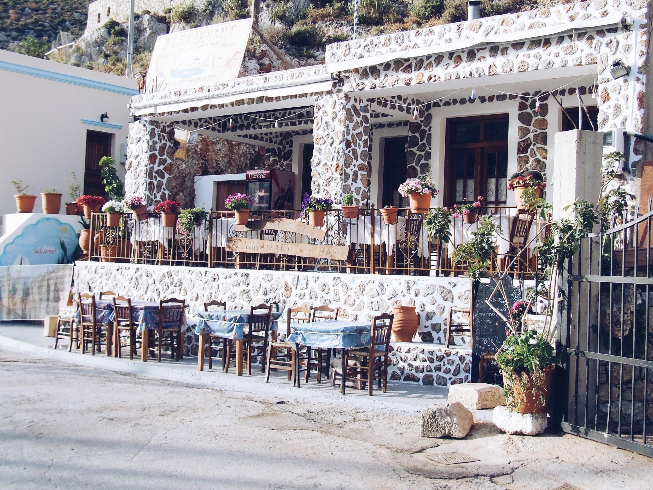 Small family run taverna in Vathy, Greece
