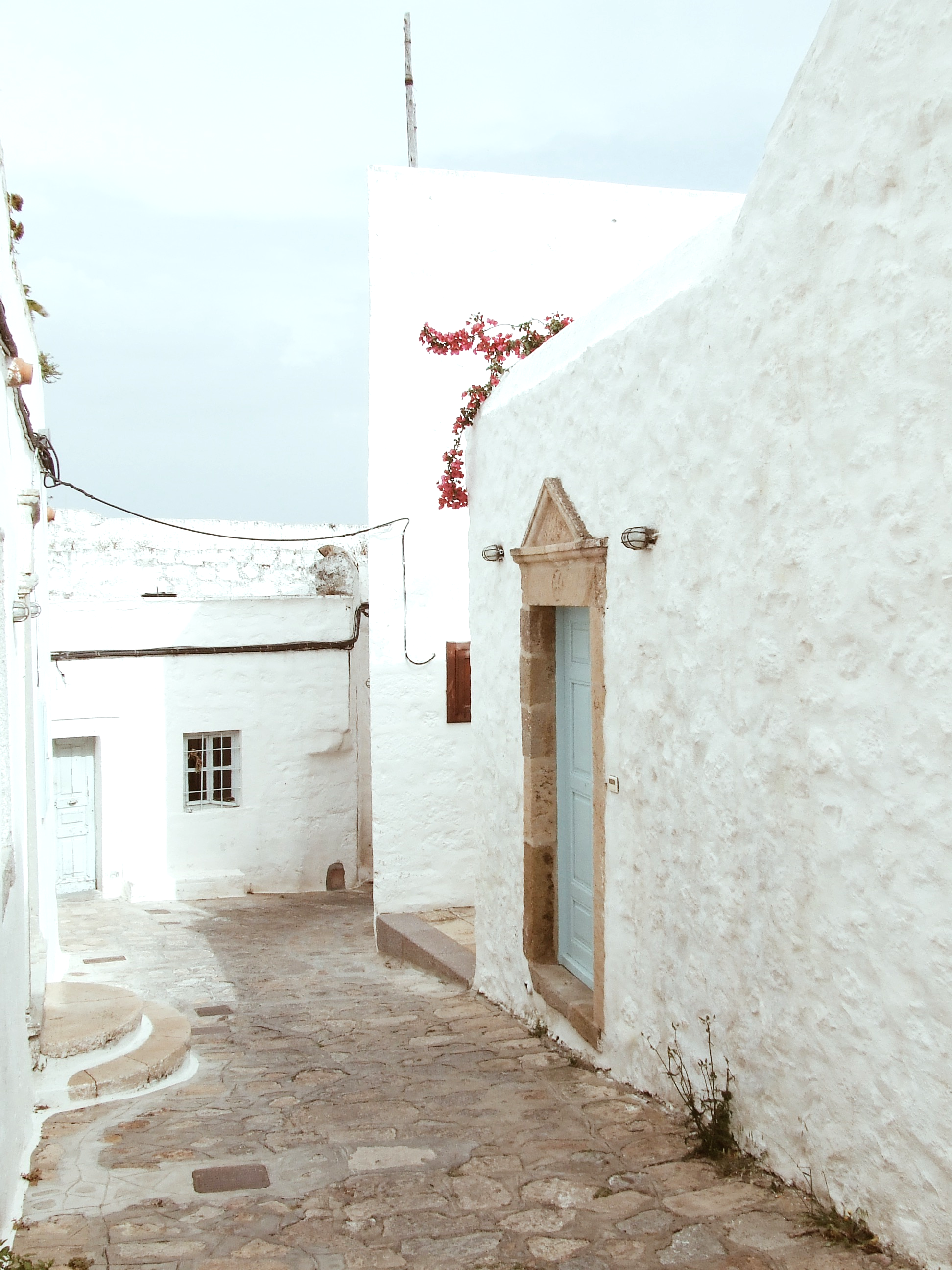 Back streets of Patmos, Greece.