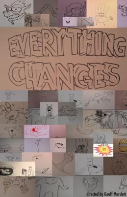 Everything Changes   (6 min. / directed by Geoff Marslett) is a stream of 1089 individual connected consciousnesses. This doodle spans 15 years and includes more than 33,000 individual drawings of ink on paper. From 2001 until 2016 filmmaker Geoff Marslett asked friends, colleagues and students to draw the first thing that came to mind and then asked them to transform that image into the next participant's image over the course of 15-60 frames. In most cases he taught them how to animate in order to do this. The result is an ever changing doodle that meanders through a decade and half of form and content.