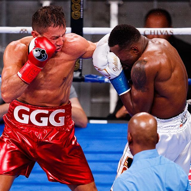 @gggboxing 🥊 did what he had to do last night at @thegarden on @dazn_usa for @frontproofmedia #boxing #nyc #sports #gggrolls #ggg #sportsphotography #boxeo