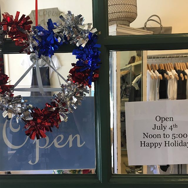 Blanc San Anselmo open today noon to 5:00! Stop by and Happy 4th to all 🇺🇸