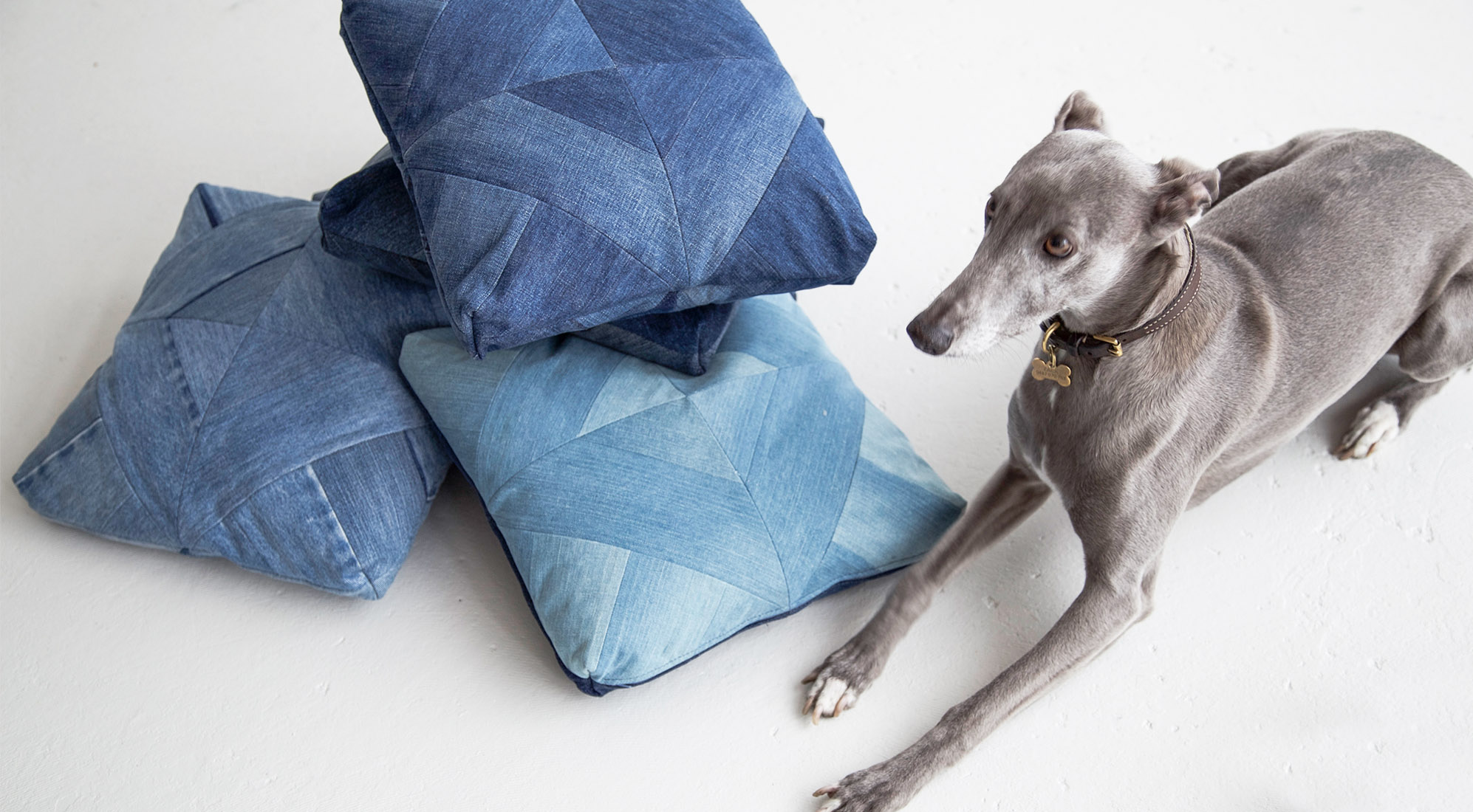 VINTAGE DENIM PATCHWORK CUSHIONS