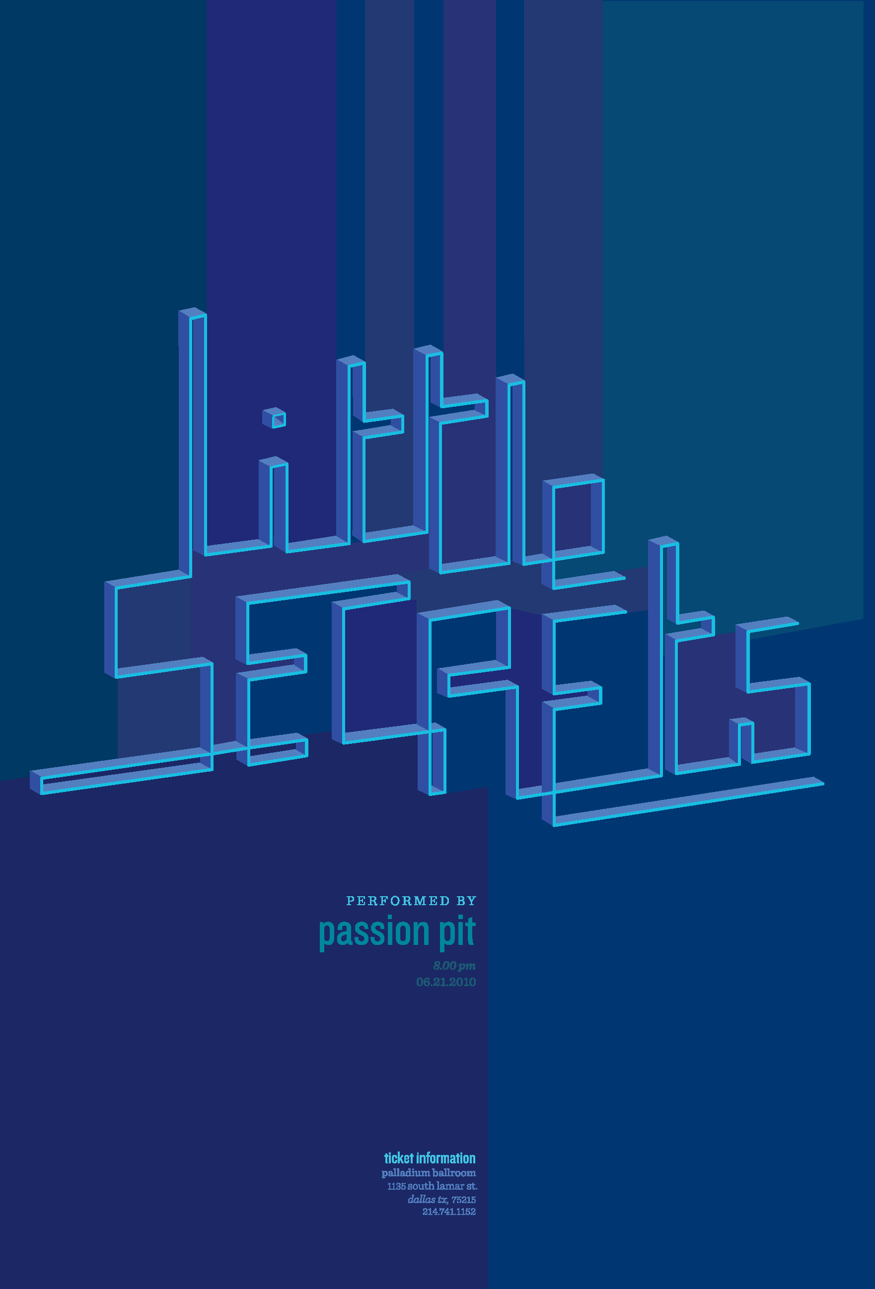 A custom typography poster.