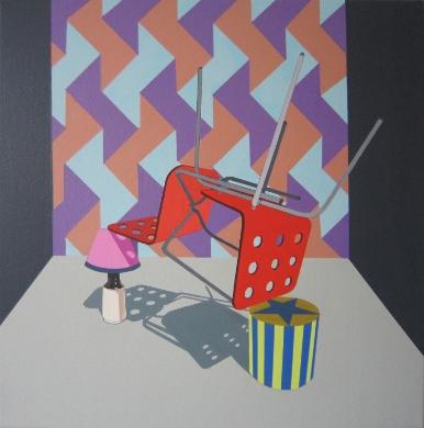 Funny Business  (2012) Acrylic on canvas 57 x 57 cm