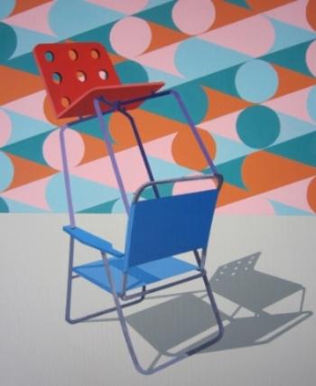 On the Upside  (2012) Acrylic on canvas 57 x 46 cm