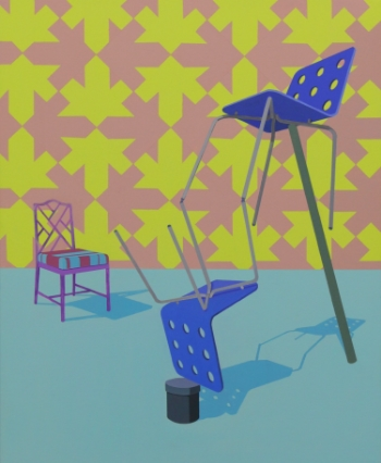 We Balance  (2011) Acrylic on canvas 66 x 53 cm