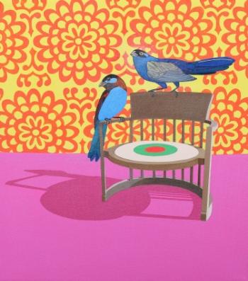 Birds Eye  (2010) Acrylic on canvas 46 x 41 cm