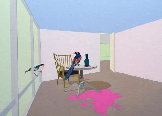 Spill  (2009) Acrylic on canvas 66 x 92 cm
