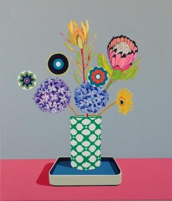 Wildflower Grey  (2014) Acrylic on canvas 71 x 68 cm