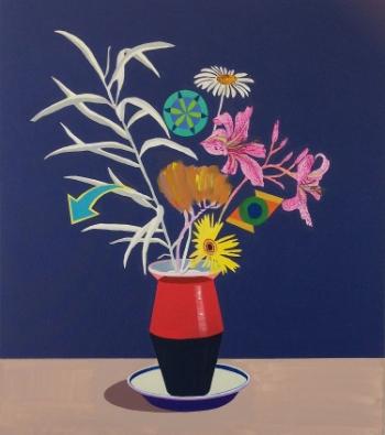 Wildflower Midnight  (2014) Acrylic on canvas 78 x 68 cm