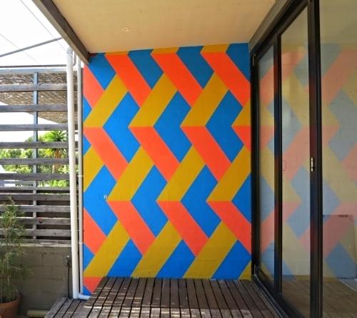 Redfern House / Exterior Terrace Wall / 3.2 m (h) x 2.3m (w)