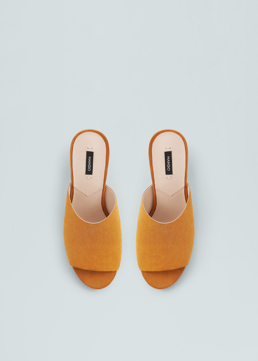 Esparto Leather Sandals by Mango