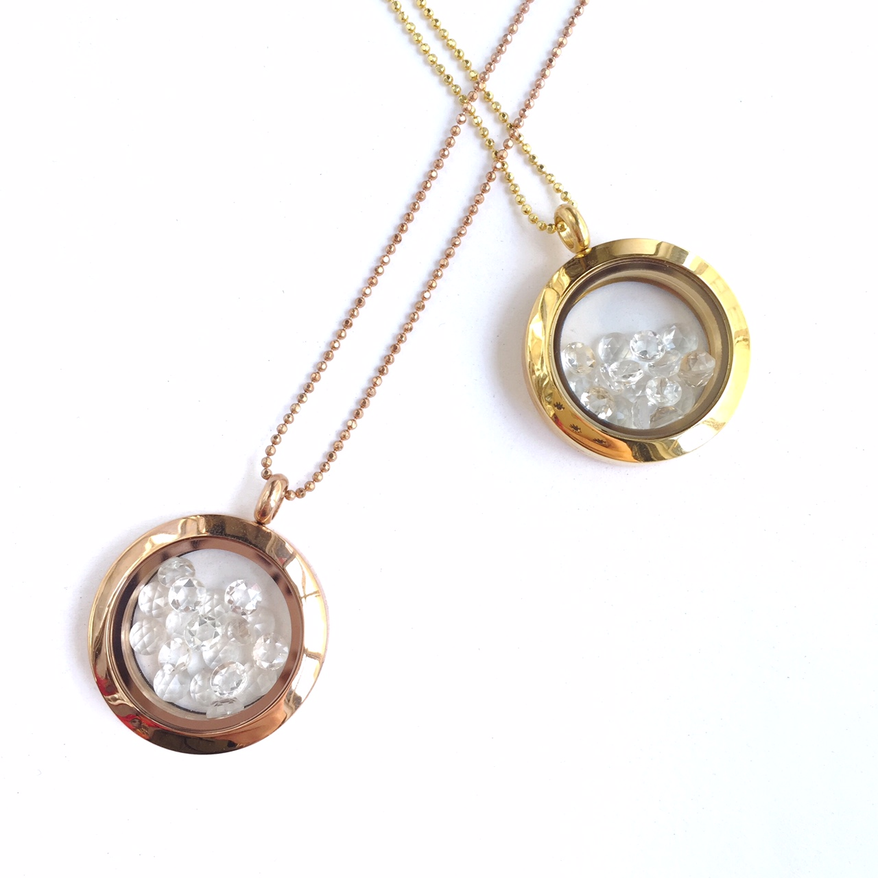 Berget White Topaz Locket Necklace