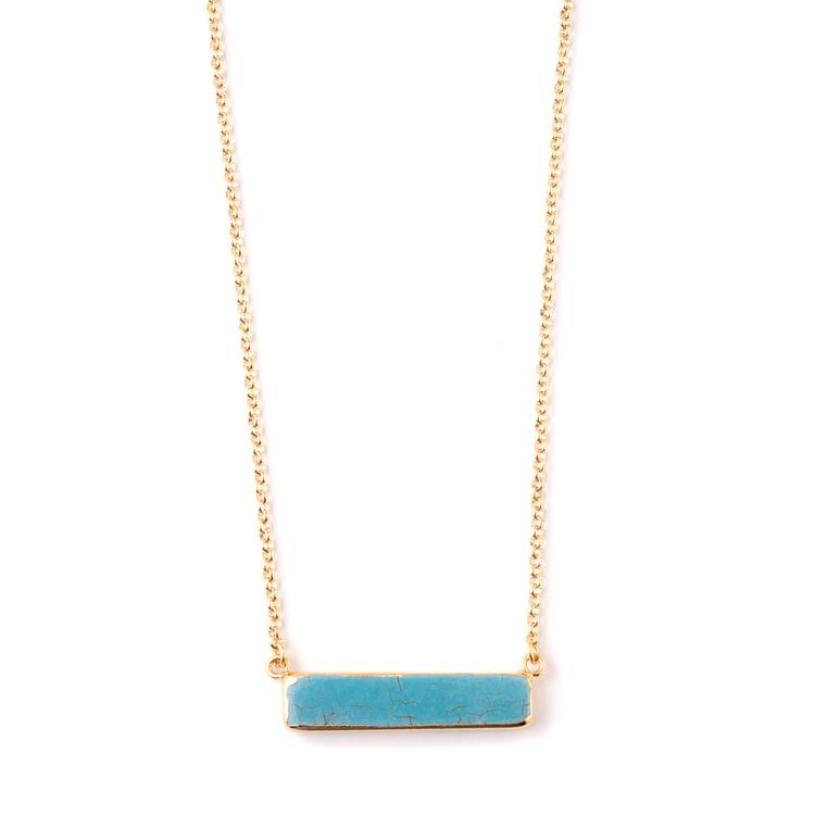 Bena Turquoise Howlite Necklace