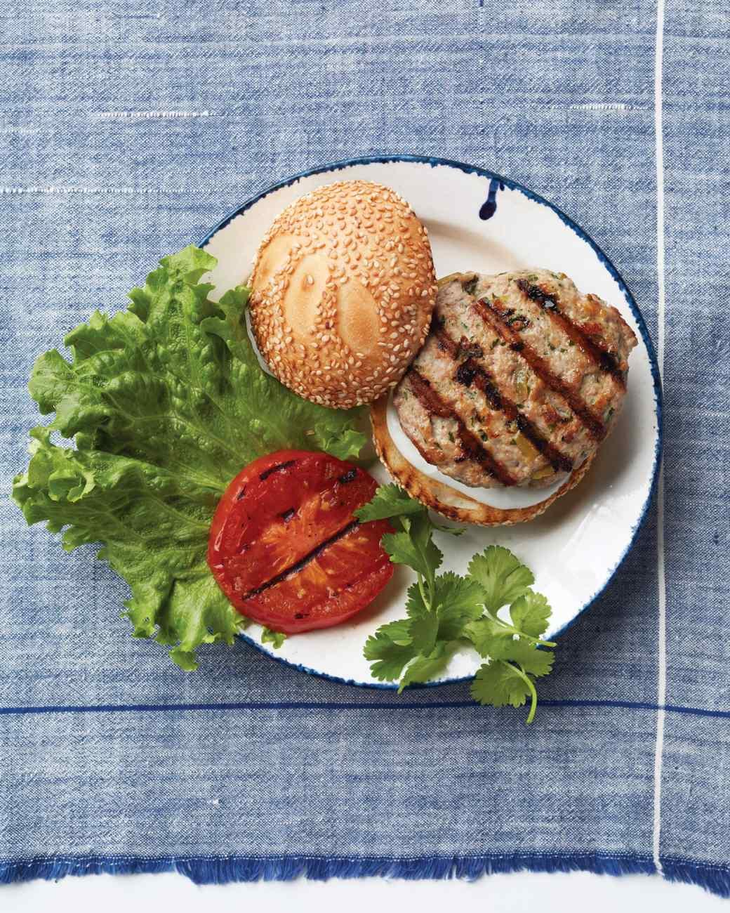 Green-Chile Chicken  Burgers from Martha Stewart