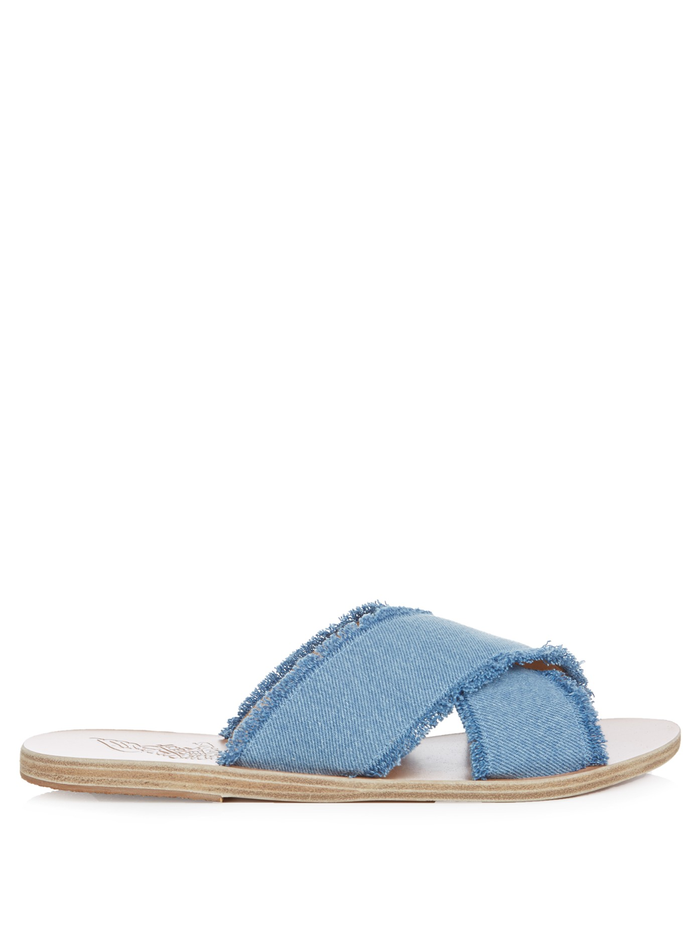 Ancient Greek Thais denim sandals