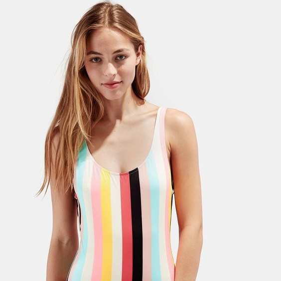 Solid and Striped bathing suit