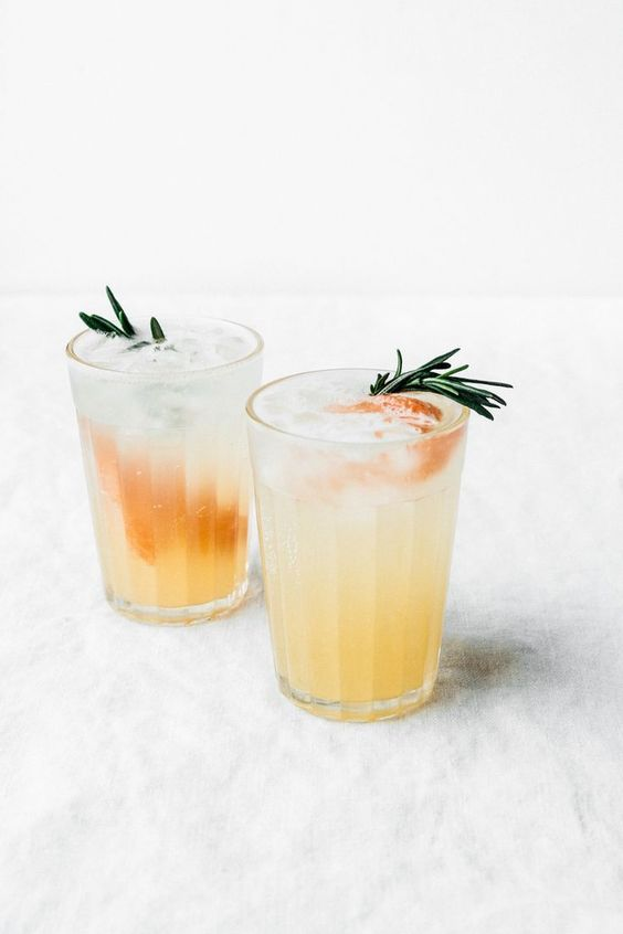Rosemary, Honey & Grapefruit Spritzer by Tending the Table