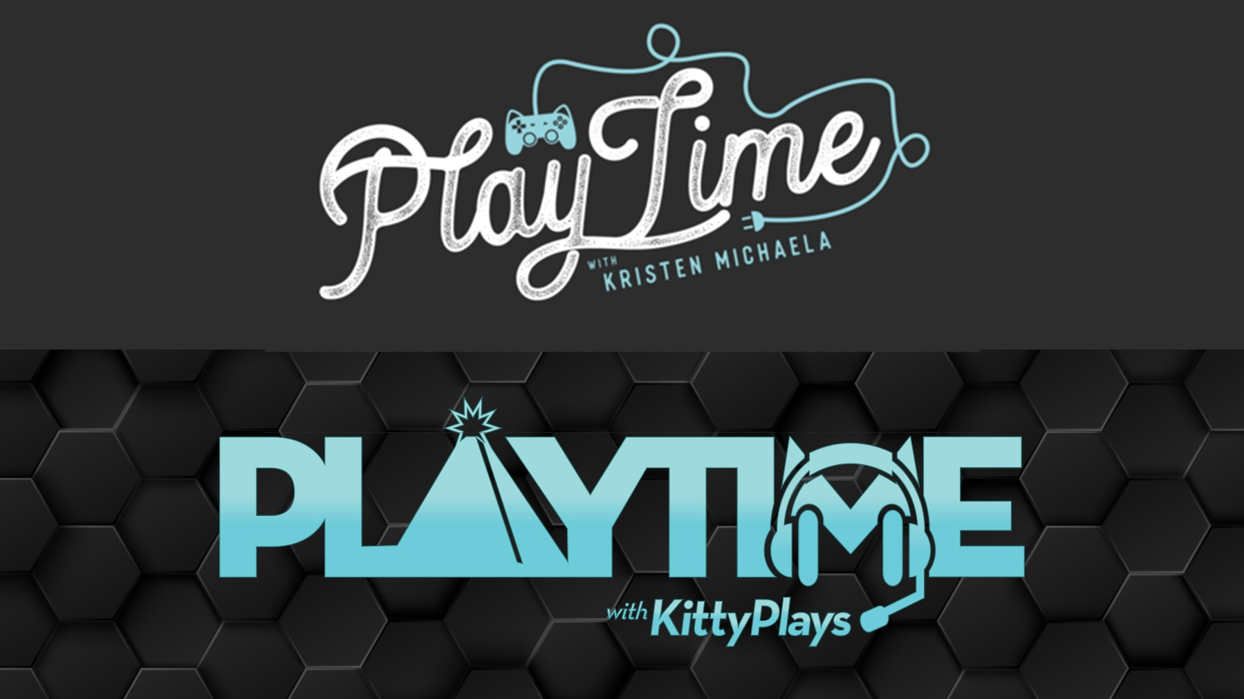 Playtime with KittyPlays Logo: 1st version and Final