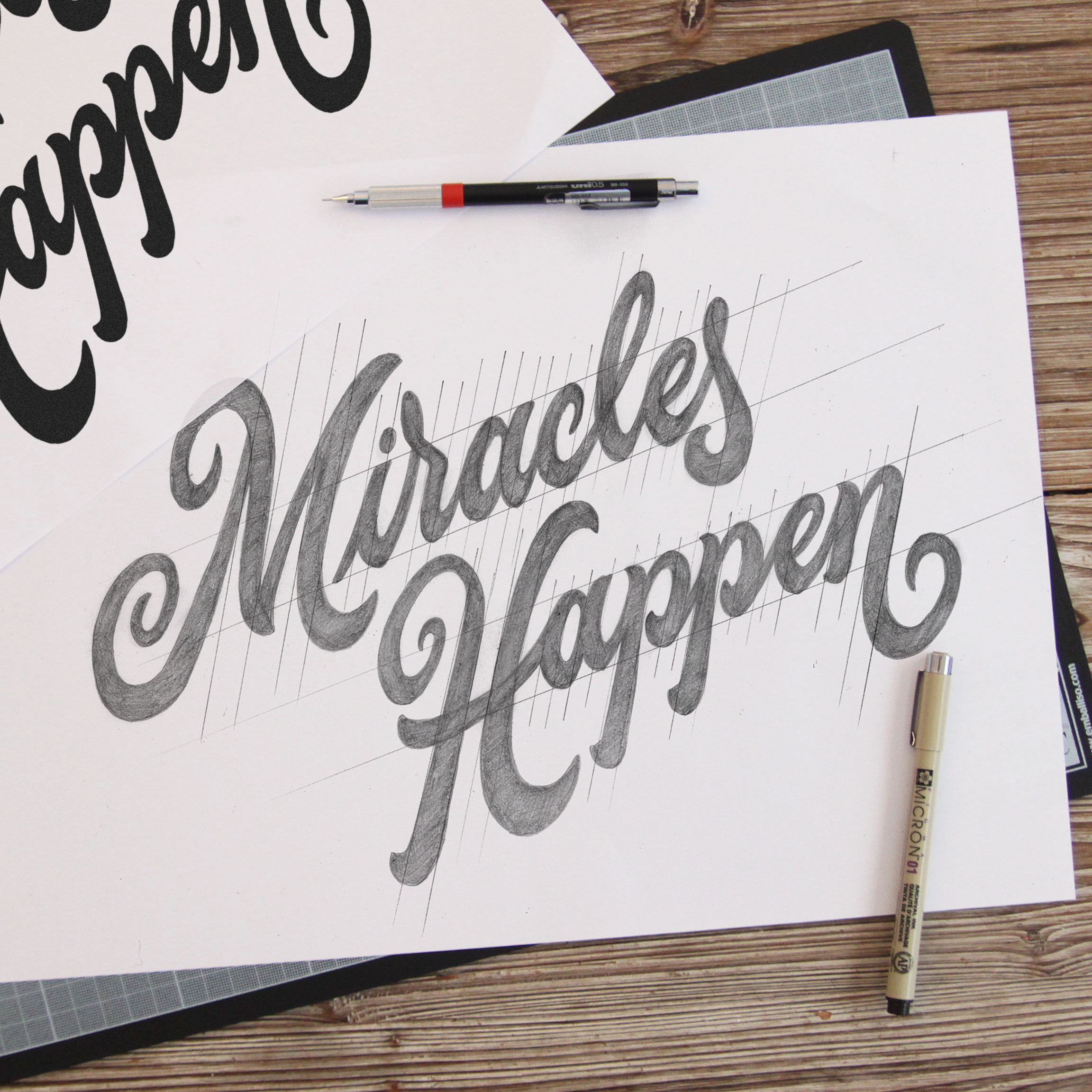 """Miracles Happen"" sketch by Tyrsa"
