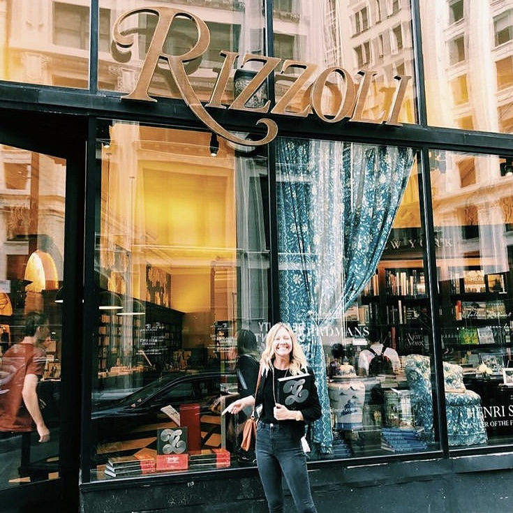 Founder Brooke Robinson at the Rizzoli Bookstore Goodtype Book Launch. July 2018.