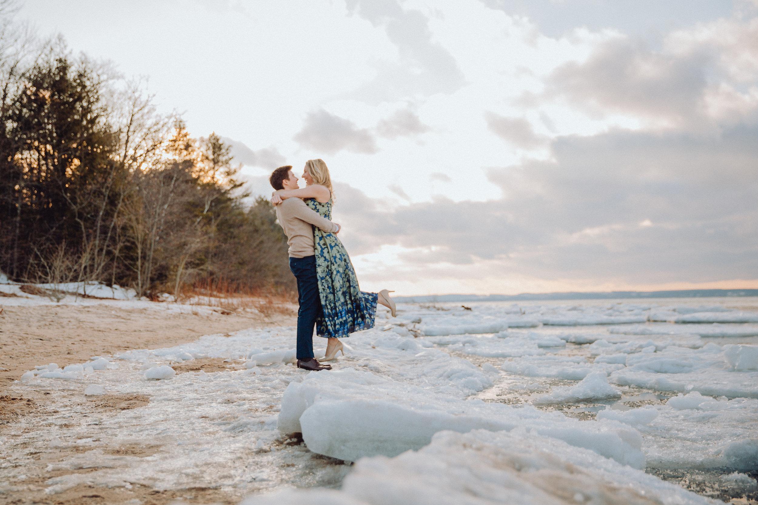 Ajae & Carlos Traverse City MI Engagement Captured by Grace Photography-1328.jpg