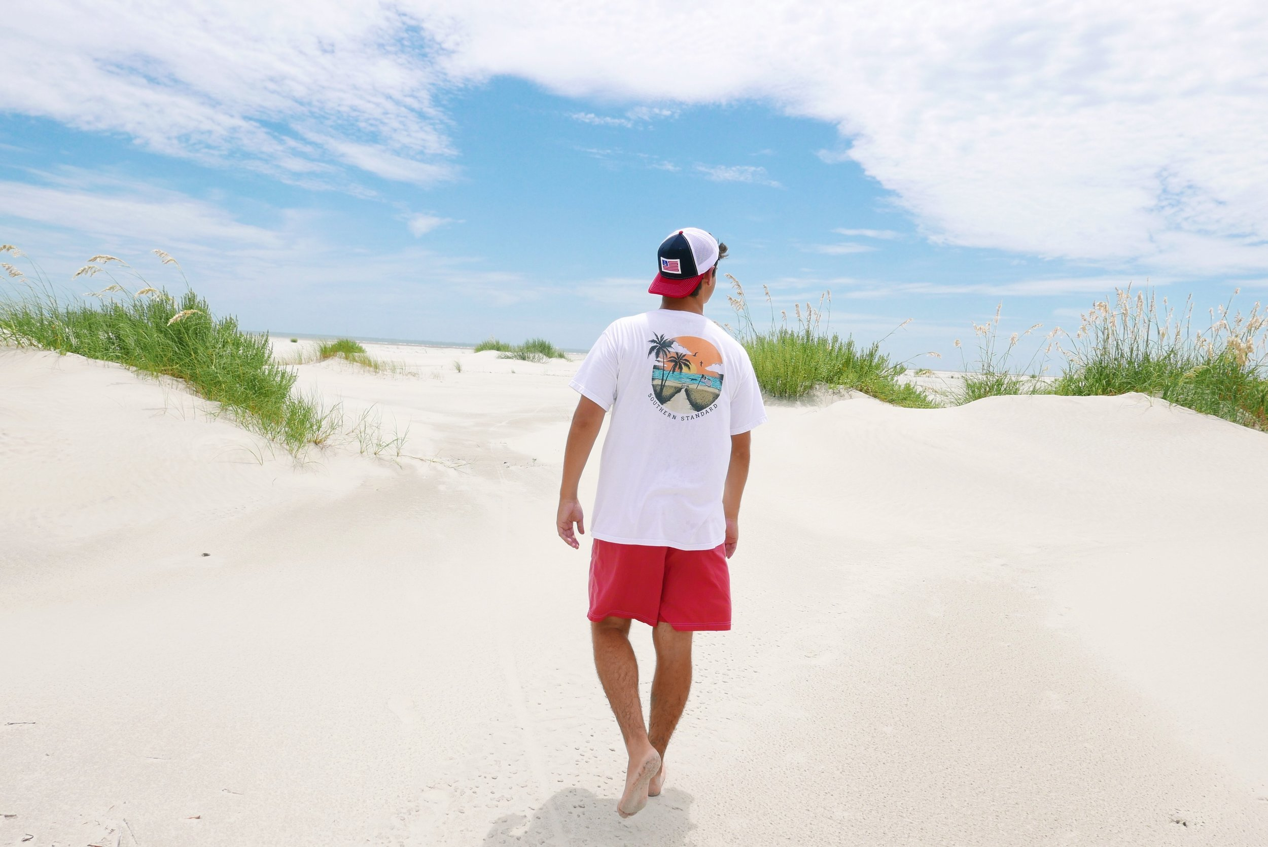 The Beach - White Short Sleeve Tee