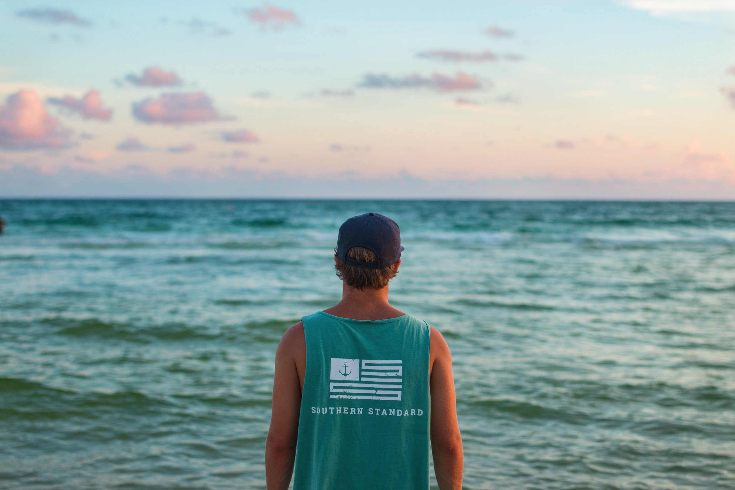 The American - Seafoam / White Tank Top