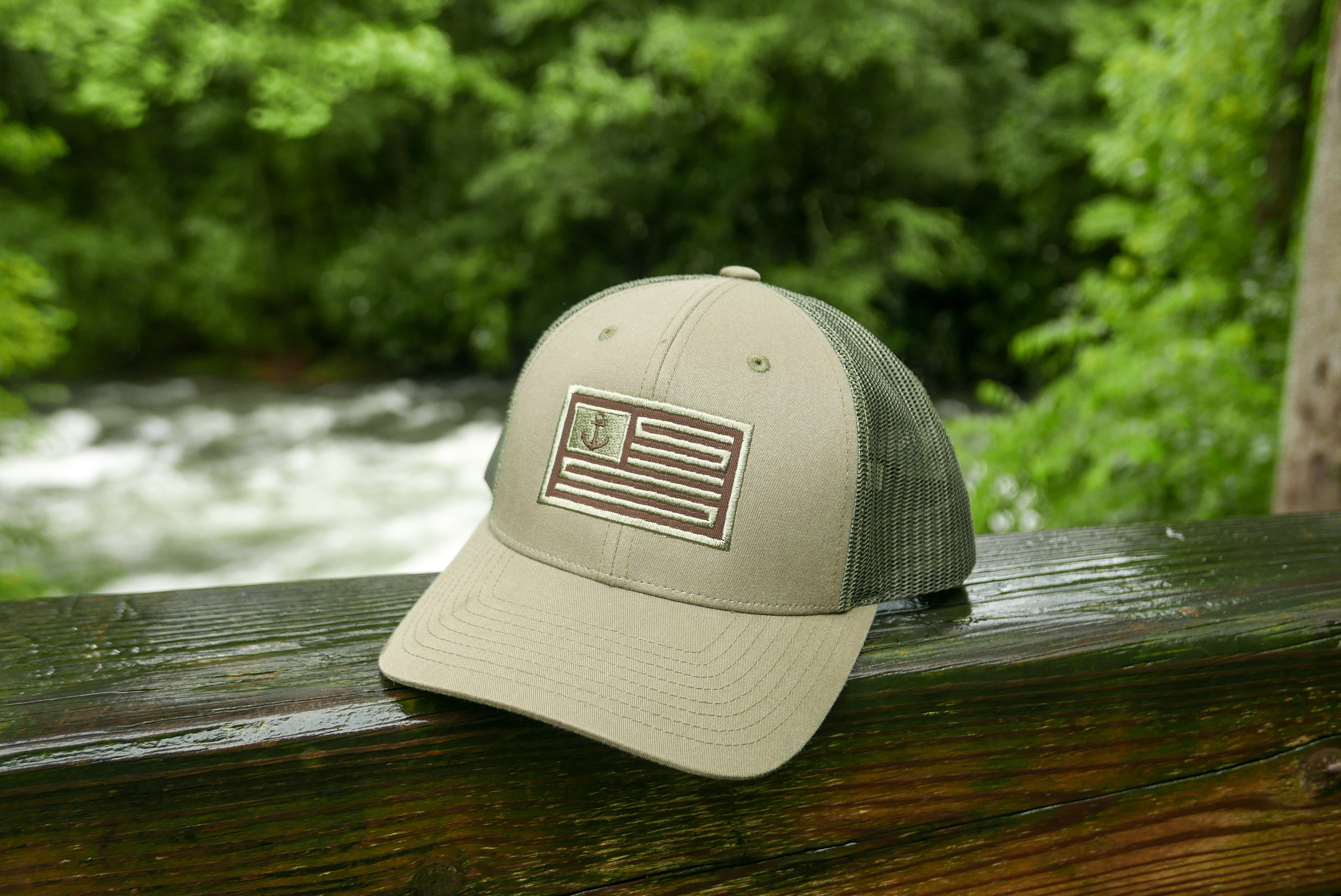 The Riverbend - Olive / Brown Trucker Hat