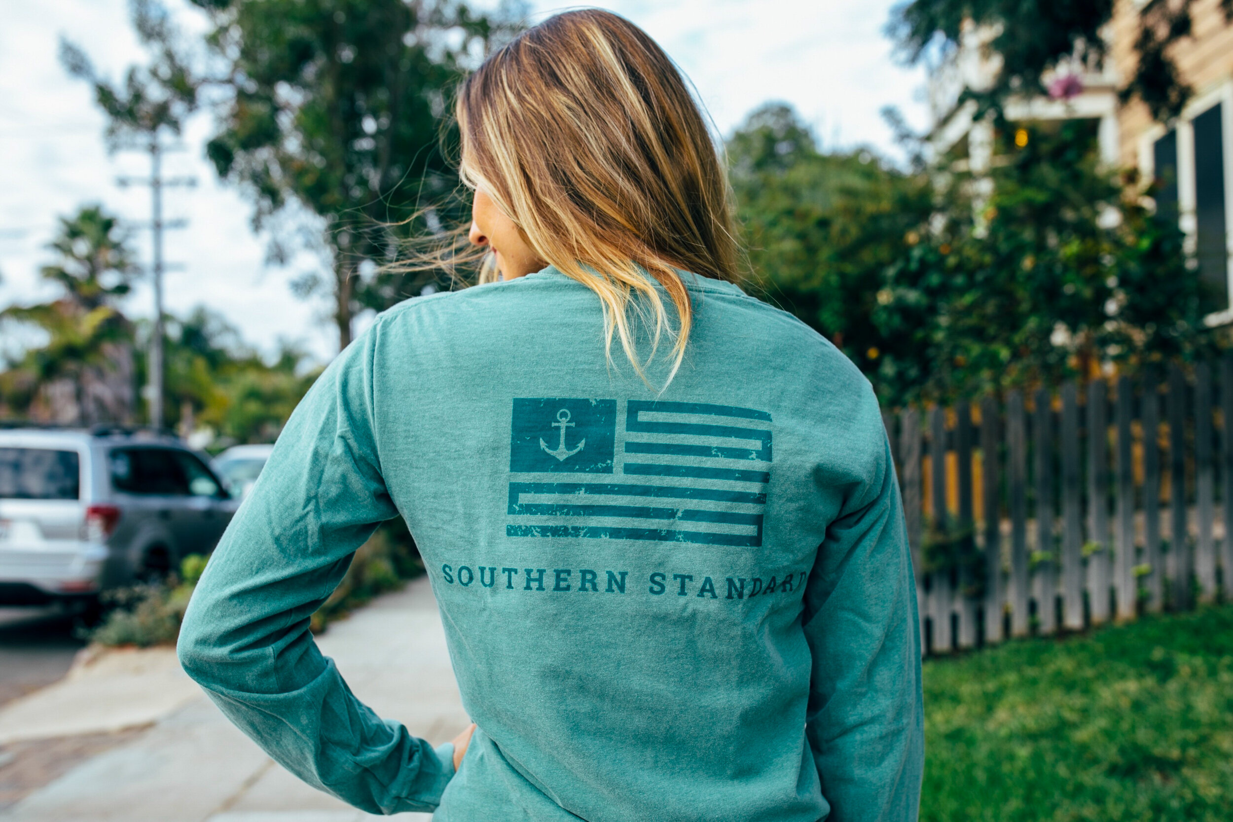 The American - Green / Forest Green Long Sleeve Tee