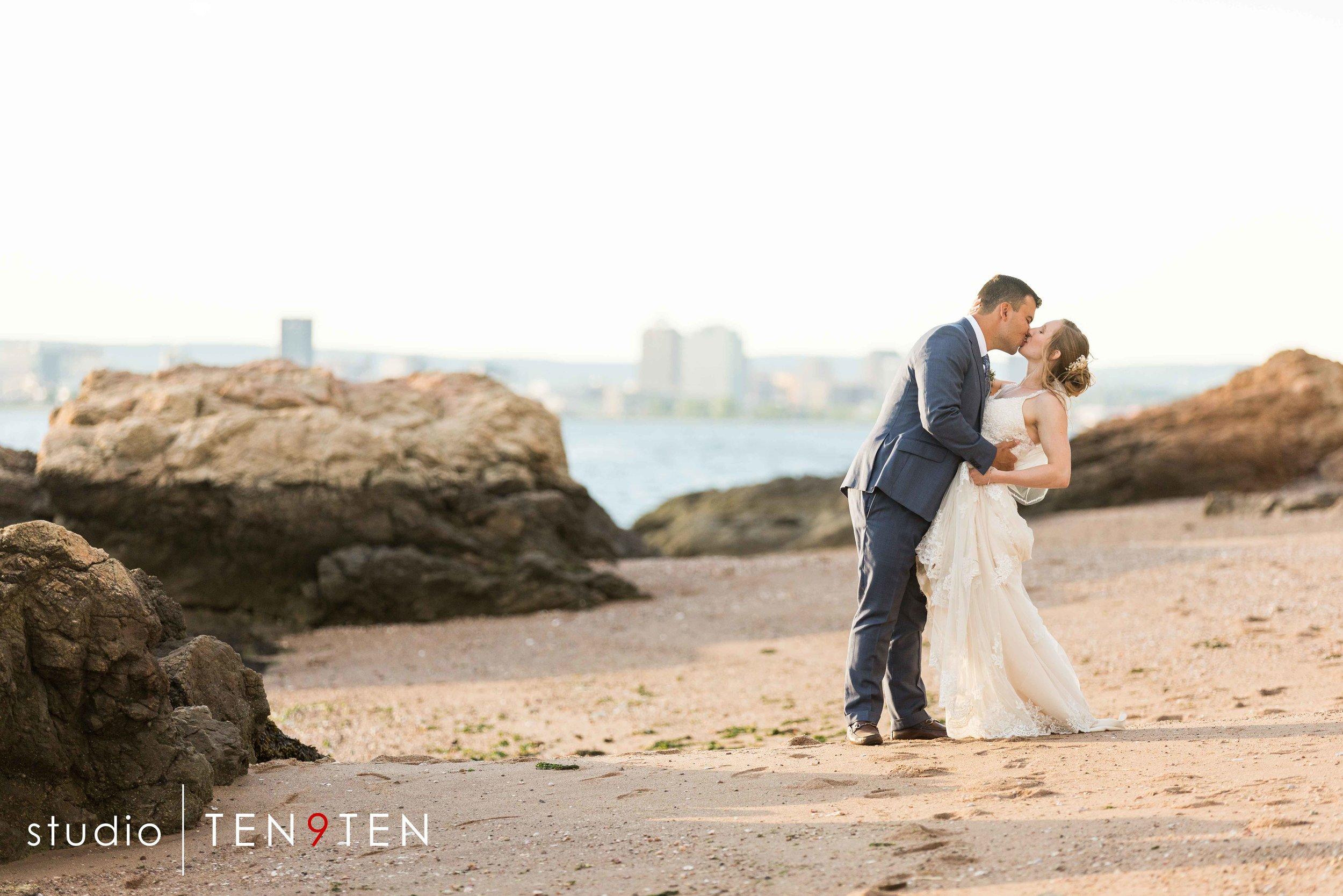 beach wedding photographer connecticut shoreline